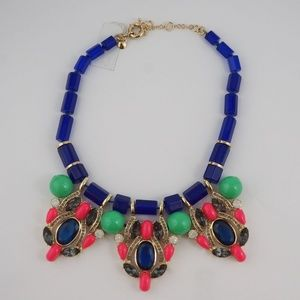 J. Crew Factory Stone & Crystal Statement Necklace